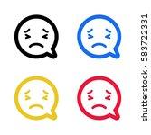 smile emoji emoticon dialogue...   Shutterstock .eps vector #583722331