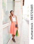 beautiful african american...   Shutterstock . vector #583725685