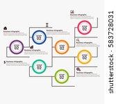 vector infographic elements. | Shutterstock .eps vector #583728031