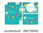 wedding invitation card suite... | Shutterstock .eps vector #583730461