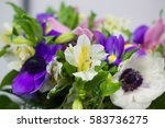 beautiful blooming bouquet with ...   Shutterstock . vector #583736275
