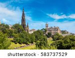 the walter scott monument in... | Shutterstock . vector #583737529