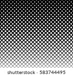 halftone square geometric... | Shutterstock .eps vector #583744495