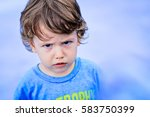Portrait Of Toddler Boy With...