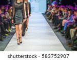 defile on fashion show  | Shutterstock . vector #583752907
