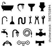 plumbing  bathroom and kitchen... | Shutterstock .eps vector #583753894