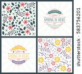spring holiday greeting card... | Shutterstock .eps vector #583756201