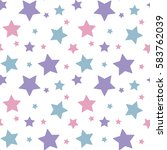 pastel colorful star pink blue... | Shutterstock .eps vector #583762039