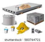 construction site. building... | Shutterstock .eps vector #583764721