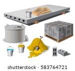 construction site. building... | Shutterstock .eps vector #583764721