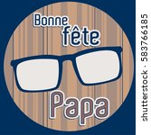 french happy father's day card...   Shutterstock .eps vector #583766185