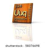 ununquadium periodic table of... | Shutterstock . vector #58376698