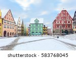 amazing winter on market square ... | Shutterstock . vector #583768045