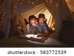 reading and family games in... | Shutterstock . vector #583772539