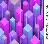 80's style seamless pattern. | Shutterstock .eps vector #583773739