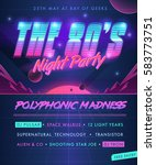 party poster. the 80's night...