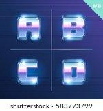 vector 80's style metallic... | Shutterstock .eps vector #583773799