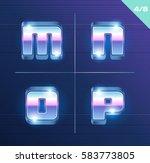 vector 80's style metallic... | Shutterstock .eps vector #583773805
