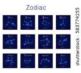 zodiac constellations    leo ...   Shutterstock . vector #583774255