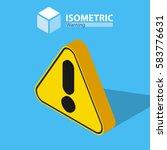 warning icon. isometric   Shutterstock .eps vector #583776631
