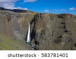 hengifoss is the second highest ...   Shutterstock . vector #583781401