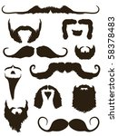 set of mustache and beard... | Shutterstock .eps vector #58378483