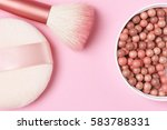 mixed pink and tan colored glow ... | Shutterstock . vector #583788331