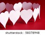 paper hearts shape | Shutterstock . vector #58378948