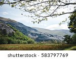 view of the mountains of wales.... | Shutterstock . vector #583797769