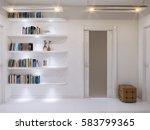 white hall interior design in...   Shutterstock . vector #583799365