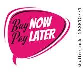 buy now pay later retro speech... | Shutterstock .eps vector #583810771