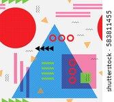 geometric seamless background... | Shutterstock .eps vector #583811455
