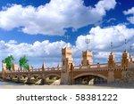 Bridge in Royal Park Montazah, Alexandria. Egypt. - stock photo