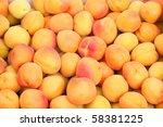Background of fresh apricot - stock photo