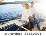restful senior couple having... | Shutterstock . vector #583814011