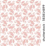 floral vector pink ornament.... | Shutterstock .eps vector #583814899