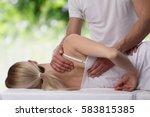 chiropractic  osteopathy ... | Shutterstock . vector #583815385