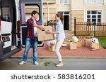 portrait of man taking...   Shutterstock . vector #583816201