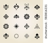 vintage set of vector elements. ... | Shutterstock .eps vector #583816231