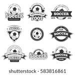 football  soccer club vector... | Shutterstock .eps vector #583816861