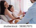 attractive brunette woman...   Shutterstock . vector #583817071