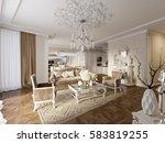 luxury classic interior of... | Shutterstock . vector #583819255