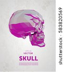 vector crystal skull. vector... | Shutterstock .eps vector #583820569