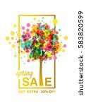 spring sale banner  with... | Shutterstock .eps vector #583820599