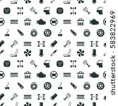car spare parts vector seamless ... | Shutterstock .eps vector #583822969