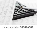 financial accounting  pen and... | Shutterstock . vector #583826581