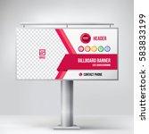 billboard design  multipurpose ... | Shutterstock .eps vector #583833199