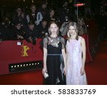 Small photo of Katharina Schuettler and costume designer Aino Labrenz arrive for the closing ceremony of the 67th Berlinale Festival Berlin at Berlinale Palace on February 18, 2017 in Berlin, Germany.