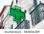 pharmacy sign on the wall under ... | Shutterstock . vector #583836289