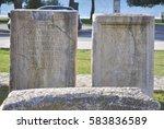 historical artefact of roman... | Shutterstock . vector #583836589
